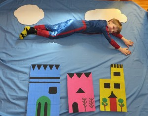 Kids Superhero Party Spider-Man Flying