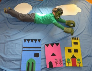 Kids Superhero Party Hulk Flying