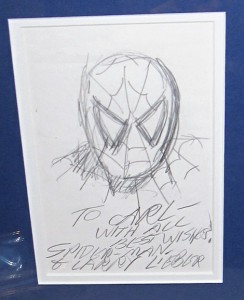 larry lieber spider-man sketch