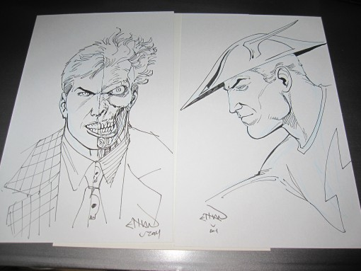 Ethan Van Sciver Two Face and Jay Garrick
