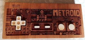 Wood Art Metroid Controller by Spitfire Labs